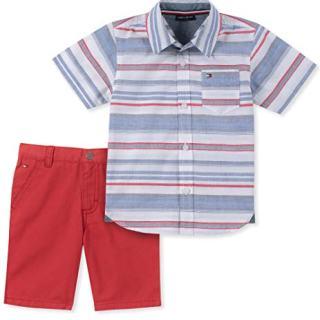 Tommy Hilfiger Baby Boys 2 Pieces Shirt Shorts Set