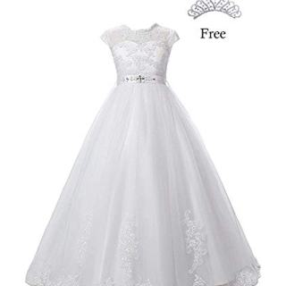 Magicdress White First Communion Baptism Dresses