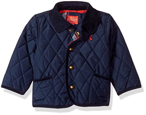 Joules Baby Boys' Milford Quilted Jacket, French Navy 9-12