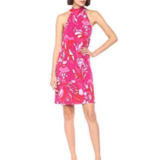 Trina Trina Turk Women's Craving Mock Neck Halter Dress