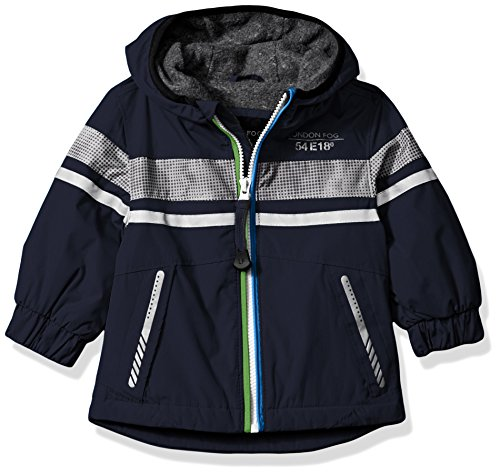 London Fog Baby Boys Chest Strip Poly Lined Jacket