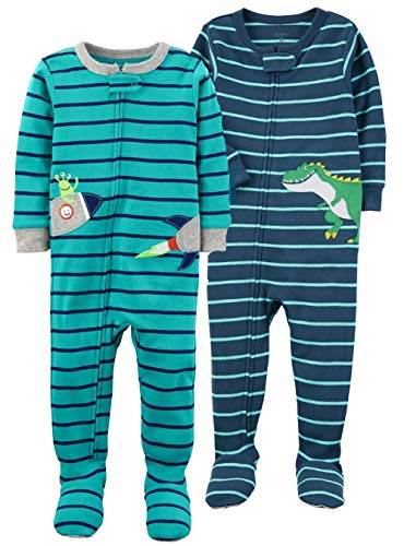 Carter's Baby Boys' 2-Pack Cotton Footed Pajamas