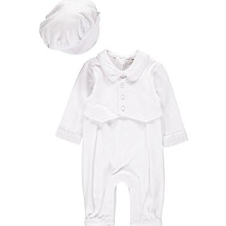 Baby Boy Elegant Christening Set White