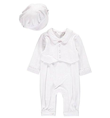 Baby Boy Elegant Christening Set White