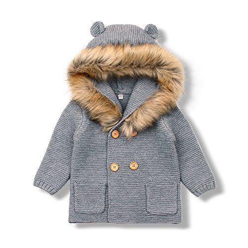 MiMiXiong Baby Boy Cardigan Sweater Cartoon Hoodies