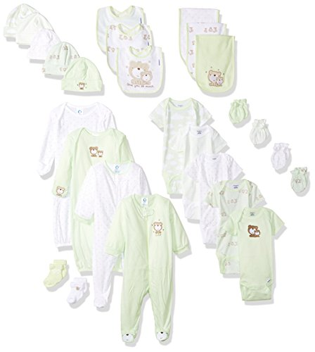 Gerber Baby 26-Piece Essentials Gift Set, Teddy Bear, Newborn