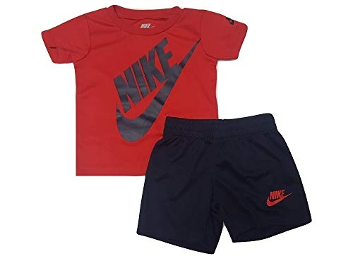 Nike Infant Boys 2 Piece Shirt and Shorts Set Red/Blue
