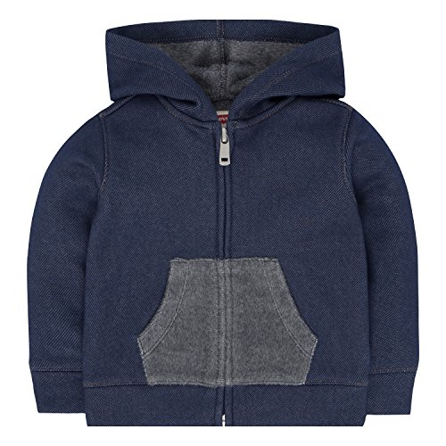 Levi's Baby Boys' Hoodie with Plush Lining, Dress Blues