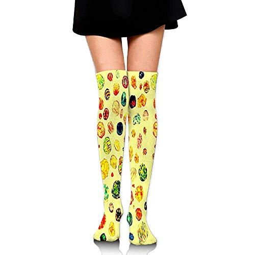 Kyliel Over the Knee Thigh High Socks,Stone Circle Print High Boot
