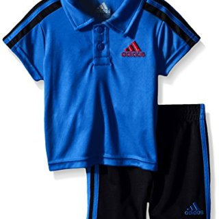 adidas Baby Boys' Pitch Short Set, Shock Blue, 12 Months