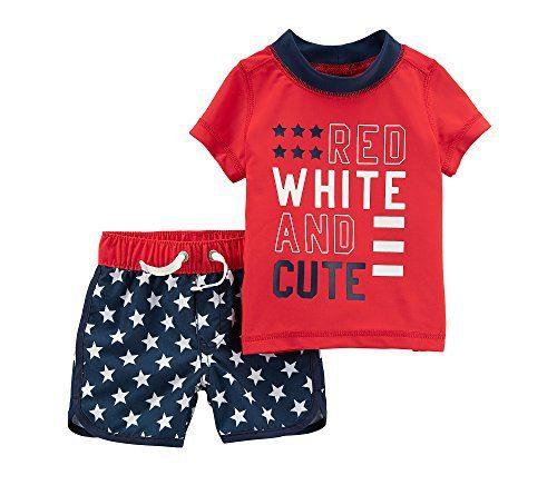 Carter's Baby Boys' 4th of July Rashguard Set 6 Months