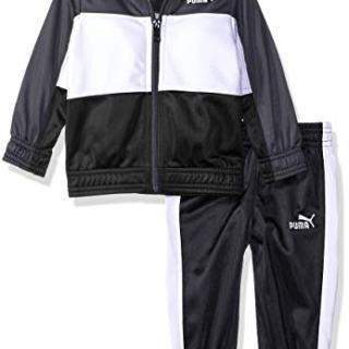 PUMA Baby Boys' Tricot Pant Set, Iron gate 12M