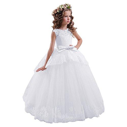 Carat Fancy Lace Floral Appliques Sleeveless Flower Girl Dresses
