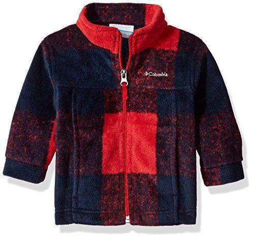 Columbia Baby Boys' Zing Iii Fleece Jacket, Mountain Red Buffalo Plaid