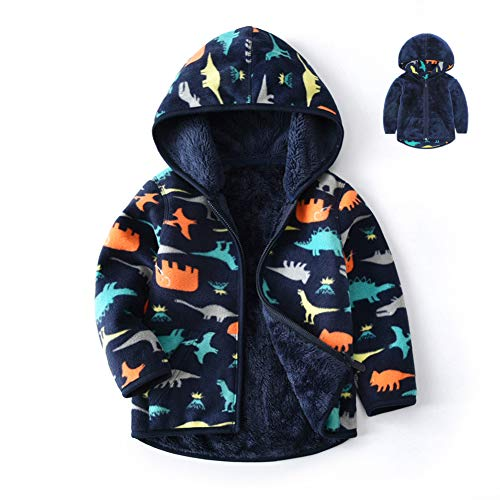Feidoog Toddler Polar Fleece Jacket Hooded Baby Boys Girls