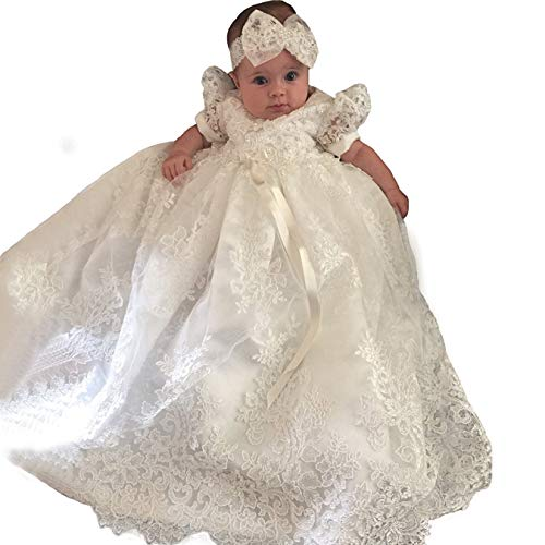 Christening Gown Baby Girl Lace Toddler Dedication Dress