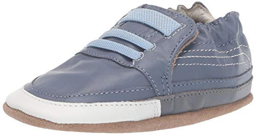 Robeez Boys' Casual Sneaker Soft Soles Crib Shoe Blue