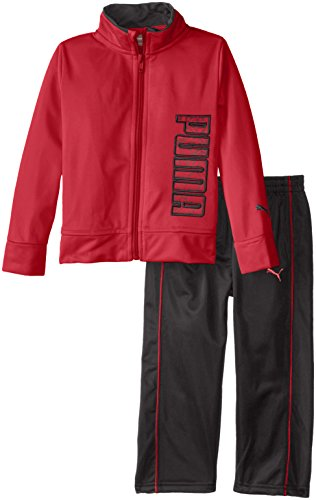 PUMA Boys' Toddler Track Set, Scooter Red 2T