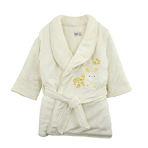 My home Warm Padded Boys and Girls, Baby Bathrobes (Yellow)