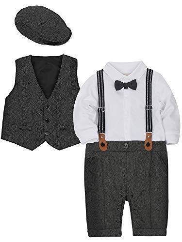WESIDOM Baby Boy Suit Outfits Set 3pcs,Infant Tuxedo