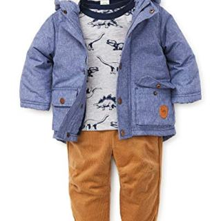 Little Me Baby Boy's Jacket Set Outerwear, dino light blue