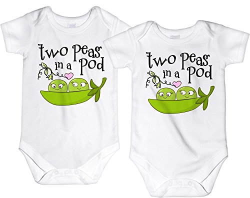 CarefreeTees Two Peas in a Pod Twin Babies
