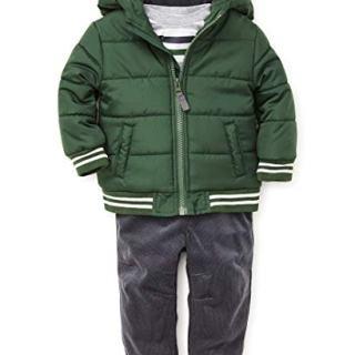 Little Me Baby Boy's Jacket Set Outerwear, deepest green/ebony