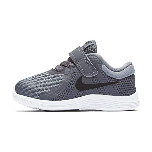 Nike Boys' Revolution 4 (TDV) Running Shoe Dark Black-Cool Grey-White