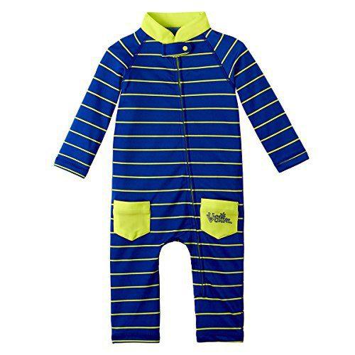 UV SKINZ UPF50+ Baby Boy Sun & Swim Suit-Navy Blue Fun Stripe