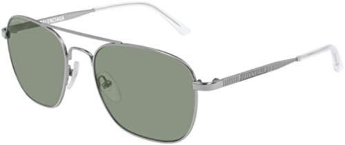 Balenciaga Sunglasses Ruthenium Green Glass Lens