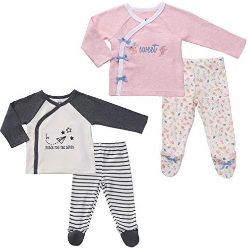 Asher & Olivia Twin Outfits for Boy and Girl Kimono Shirt