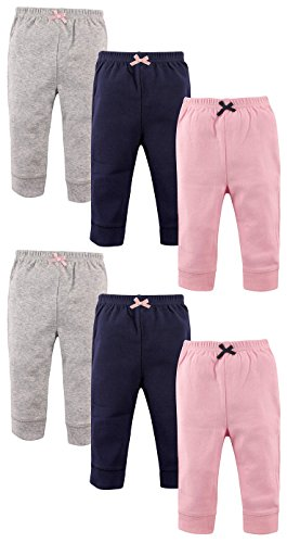 Luvable Friends Girls 6 Pack Tapered Ankle Pants