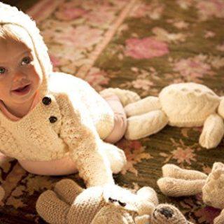 Carraig Donn 100% Merino Wool Baby Hoodie