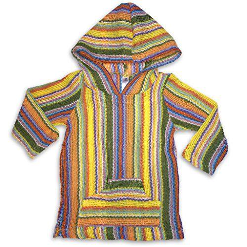 Sol Baby Infant/Toddler Baja Hoodie Multi-Stripe Sweater