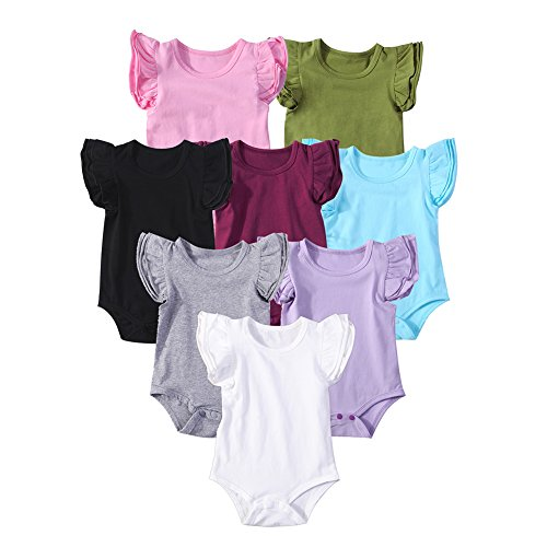 Mubineo Infant Baby Girls Basic 3-5-8-Pack Ruffle Short