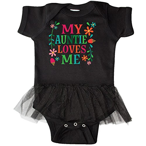 inktastic - My Auntie Loves Me Girls Infant Tutu Bodysuit