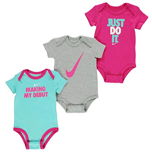 Nike Swoosh Three-Piece Infant Baby Bodysuit Set