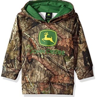John Deere Baby Boys Tractor Mossy Oak Camo Toddler Pullover Fleece