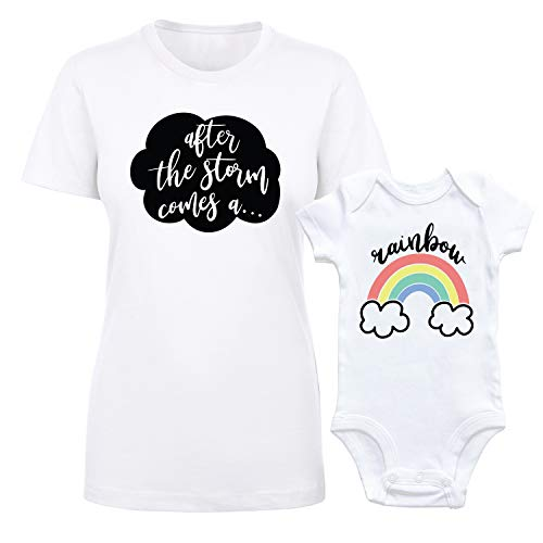 Rainbow Baby Mommy and Me Shirt and Bodysuit Newborn Girl Boy
