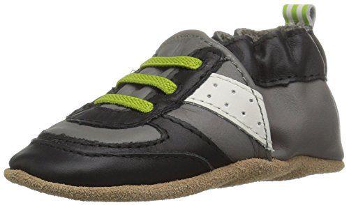 Robeez Boys' Soft Soles Loafer Super Sporty - Grey/Lime