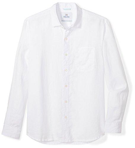 Palms Men's Standard-Fit Long-Sleeve 100% Linen Shirt
