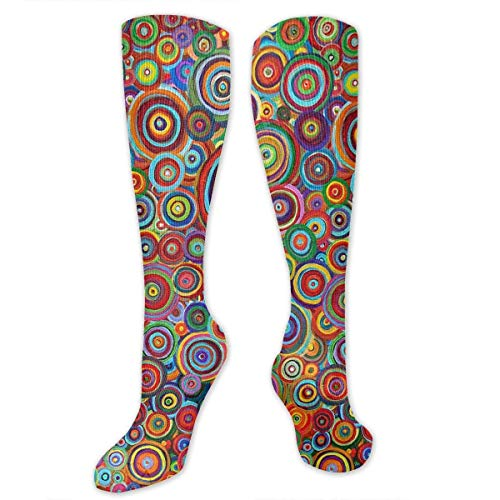 Snabeats Psychedelic Trippy Art Candle Knee High Nursing Travel
