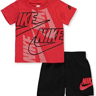 Nike Baby Boys' 2-Piece Shorts Set Outfit - Black, 12 Months