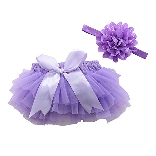 muyan Girls Cotton Tulle Ruffle with Bow Baby Bloomer Diaper Cover