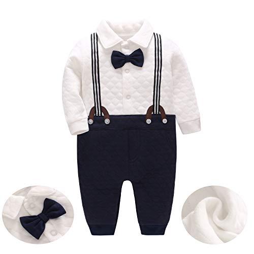 JooNeng Baby Boys Thicken Gentleman Long Sleeve Romper Newborn Tuxedo