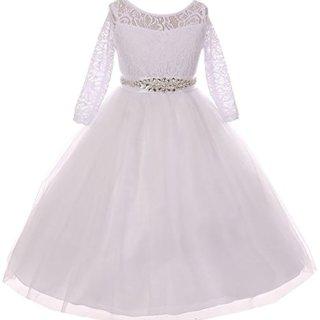 Big Girl Formal Communion Wedding Bridesmaid Party Girl Dress