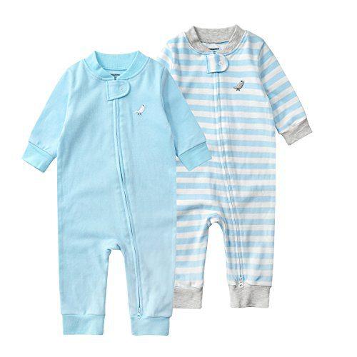 JooNeng Baby Newborn 3 Pack Cotton Romper Onesies Boy Girl Long Sleeve