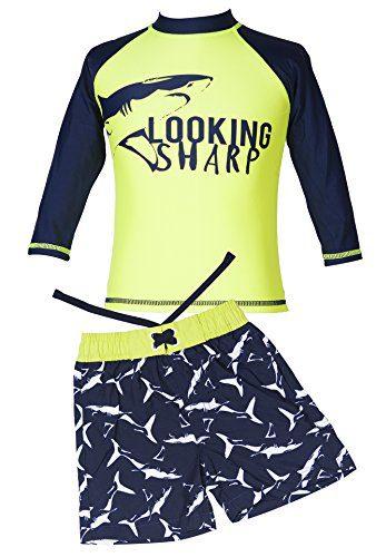 Sharp Boat Long-Sleeve Rash Guard Swim Shirt Swimsuit