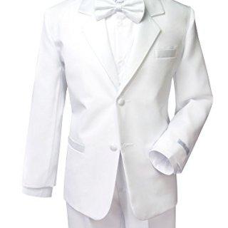 Spring Notion Boys' White Classic Fit Tuxedo Set