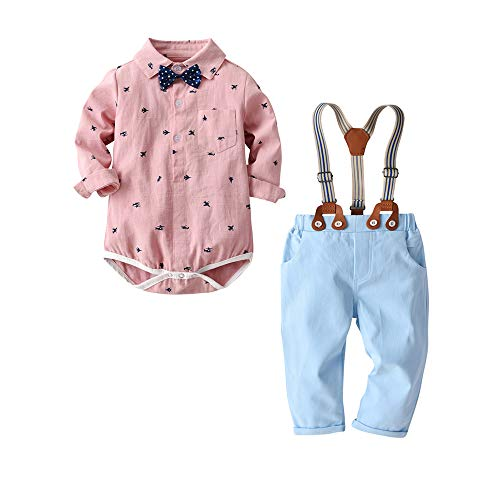 Newborn Baby Boys Gentleman Clothes Suit Infant Romper Jumpsuit